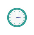 round clock time hour icon on white background vector image