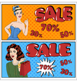 Sale Banner Seasonal Sale Great Discount vector image
