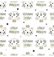 seamless pattern with cute leopards vector image vector image