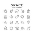set line icons space vector image