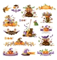 Set of halloween decorative elements