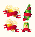 set of isolated cartoon beer vector image vector image