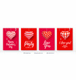 set of valentines day backgrounds with hearts vector image vector image