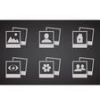 set photograph icons vector image