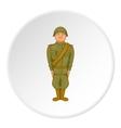 Soldier icon cartoon style vector image vector image