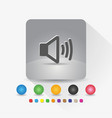 speaker icon sign symbol app in gray square shape vector image