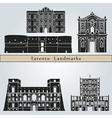 Tarento landmarks and monuments vector image vector image