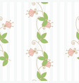 trendy seamless floral pattern in vector image vector image