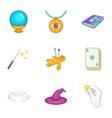 Tricks icons set cartoon style vector image