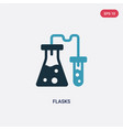 two color flasks icon from science concept vector image vector image