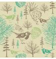 Vintage forest birds Pattern vector image vector image