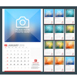 Wall Calendar Planner for 2016 Year Design Print vector image