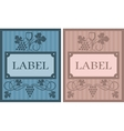 Wine labels in retro style vector image vector image