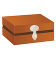 Wooden chest with silver trim and lock isolated