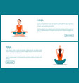 yoga workout sporty woman in lotos pose vector image