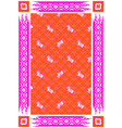 circus horse red and pink carpet design vector image
