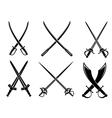 Swords sabres and longswords set