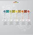 5 steps order timeline template for your design vector image vector image