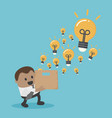 african businessmen who have a lot of ideas out vector image vector image