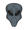 alien face extraterrestrial head icon vector image