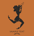 ancient greece girl carrying an amphora silhouette vector image