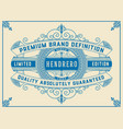 art deco frame and label design resource for vector image vector image