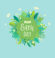 banner for earth day for environment safety vector image vector image