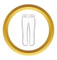 Baseball player pants icon vector image vector image