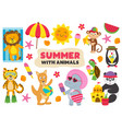 basic rgbsummer with animals part 2 vector image vector image