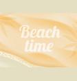 beach sand on ocean coast sea azure wave vector image vector image