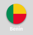 benin flag round icon vector image