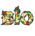 bio food vector image vector image