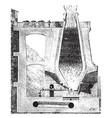 blast furnace vintage vector image vector image