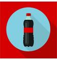 bottle of soda water cola bottle tasty refreshing vector image vector image