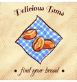 Bread On A Napkin 4 vector image vector image