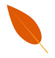 brown leaf icon flat style vector image vector image