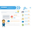 Business infographics set copy space for
