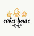 cakes shop logotype template vector image vector image