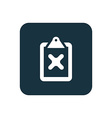 cancel icon Rounded squares button vector image vector image