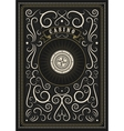 Casino calligraphic vintage poster with roulette vector image vector image