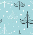 christmas and new year seamless patterns vector image vector image