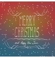 Christmas typography handwriting vector image vector image
