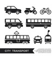 digital black city transport vector image vector image