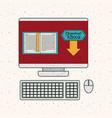 ebook and computer gadget design vector image vector image