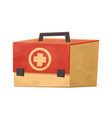first aid kit medicine chest isolated on white vector image vector image