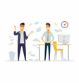 furious boss in the office - modern cartoon people vector image vector image