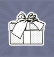 gift box pop art retro style of present with vector image vector image
