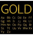 Golden alphabet letters vector image vector image