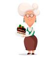 grandmother wearing eyeglasses vector image vector image