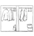 Hand drawn wardrobe sketch vector image vector image